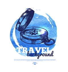 Travel vintage banner vector image