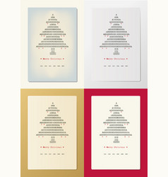 typed christmas cards vector image