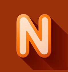Volume icons alphabet n vector