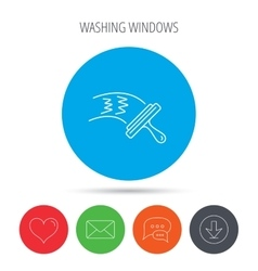 Washing windows icon Cleaning sign vector image