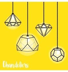 With modern chandelier vector