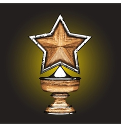 Wooden award vector
