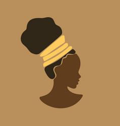 Young beauty african girl face in profile vector