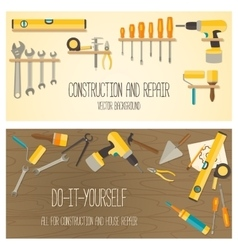 flat design DIY and home renovation tools vector image vector image
