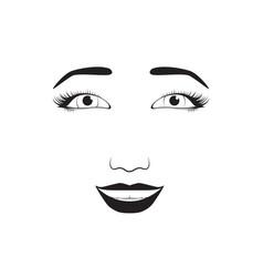 girl emotion face laugh cartoon vector image vector image
