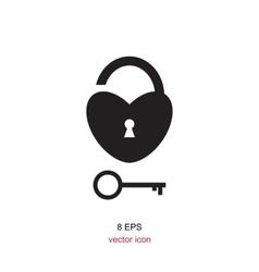 Lock Black And White Icon vector image