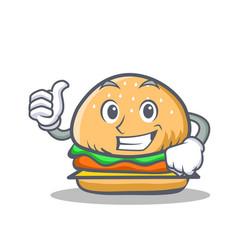 Proud burger character fast food vector