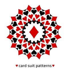 Diamond card suit snowflake vector image vector image