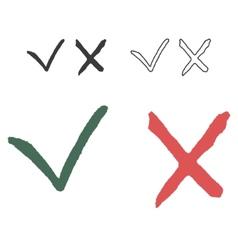 Hand Written Sketch Check Box vector image vector image