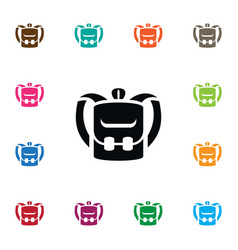 Isolated luggage icon knapsack element can vector