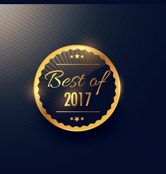 best of year label and badge design in golden vector image vector image