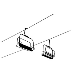 Chairlift vector image vector image