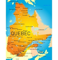 Quebec Province vector image vector image