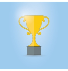 trophy cup vector image vector image