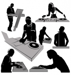 Turntable vector image vector image