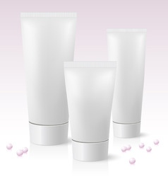 cosmetic tube vector image vector image