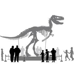 Dinosaur museum vector image