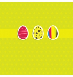 Easter card with egg vector image vector image