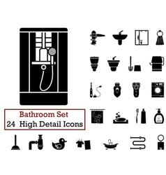 icon set bathroom vector image vector image