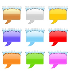 message bubble with snow vector image vector image