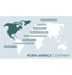 north american continent facts vector image vector image