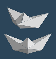 paper ships set vector image vector image