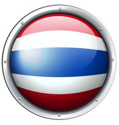 thailand flag in round frame vector image vector image