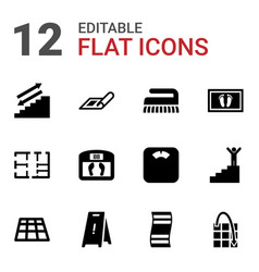 12 floor icons vector