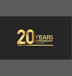 20 years anniversary celebration with elegant vector