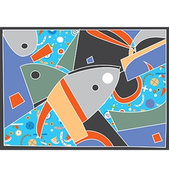 Abstract background with fish motive vector