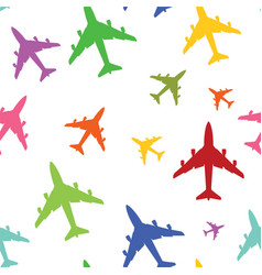 airplane color texture vector image
