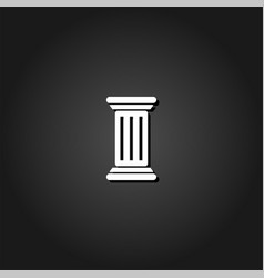 antique column icon flat vector image