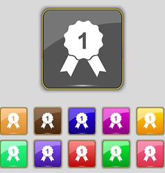 award medal icon sign Set with eleven colored vector image