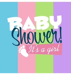 Bagirl shower greeting card vector