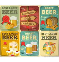 Beer posters set vector