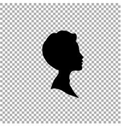 black profile silhouette of boy or man head face vector image