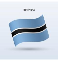 Botswana flag waving form vector image