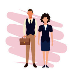business couple teamwork vector image