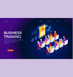 business training web banner vector image