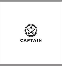 Captain logo design inspiration idea vector