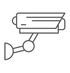 Cctv thin line icon security and monitoring vector