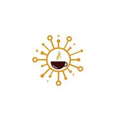 Coffee share logo icon design vector