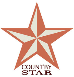 Country Star vector