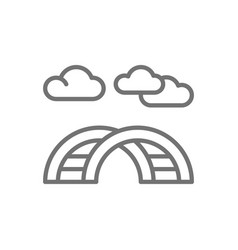 Curved ladder for playground line icon vector