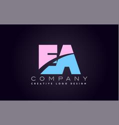 Ea alphabet letter join joined letter logo design vector