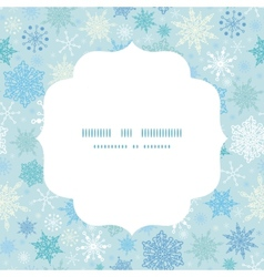 falling snow circle frame seamless pattern vector image