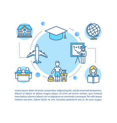 Global education concept icon with text vector