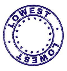 Grunge textured lowest round stamp seal vector