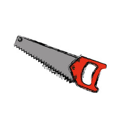 handsaw carpentry tool vector image