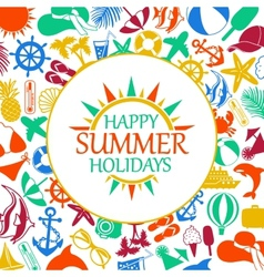 happy summer holiday vector image
